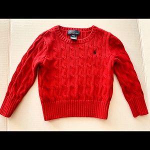 Ralph Lauren Red Sweater 2T